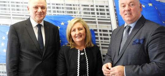 The EFN President & Secretary General meet the EU Commissioner for Health, Vytenis Andriukaitis